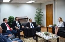 Mesa Diretora visita presidentes dos tribunais de Contas do Estado e do Regional do Trabalho